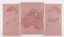 Sophie Ko Chkheidze, Geografia Temporale_Pala d'altare, 2014, pigmento, cm 145x245
