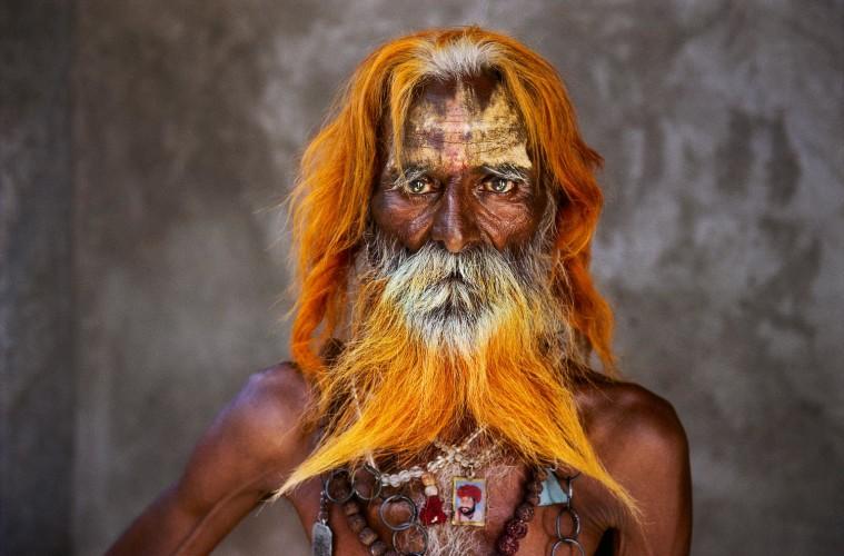 Steve McCurry, Un uomo anziano della tribù Rabari, Rajasthan, 2010
