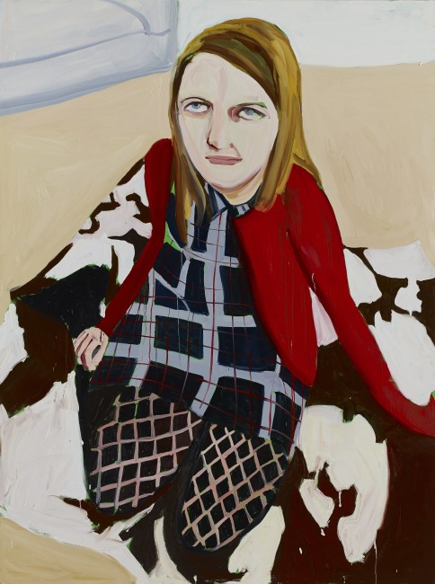 Chantal Joffe, Bumptious Mansions 2014 olio su tela / oil on canvas 243,8 x 183,5 cm  Courtesy the Artist, Victoria Miro Gallery, Collezione Maramotti © Chantal Joffe