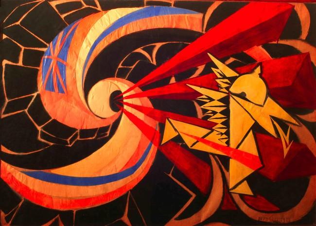 Giacomo Balla, La guerra, 1916 Unicredit Art Collection