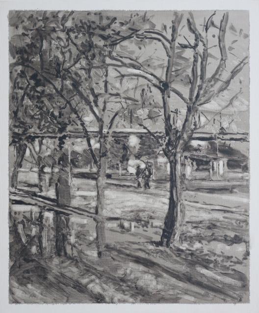 Federico Pietrella, Gleisdreieck (29 Marzo 2014), 2014, olio su tela cartonata, cm 60x50