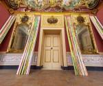 Untitled, 2014, acrilico su carta gommata su tavola. Dimensioni ambientali site-specific per Palazzo Mezzacapo Maiori, Costa d'Amalfi ph courtesy Carlo Ferrara