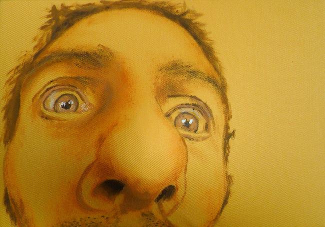 Maurizio Cariati, Al solarium...acrilico su tessuto estroflesso, 14x21x8 cm 2014