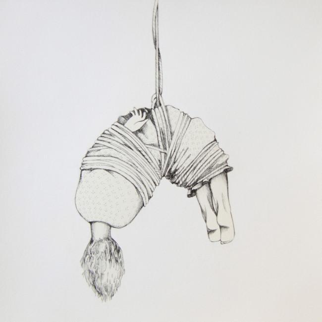Anna Turina, Salam-Amì, 2014, china e acrilico su carta, 30x30 cm