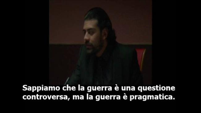 Neïl Beloufa, La Dominazione del Mondo, frame da video, courtesy Radicate