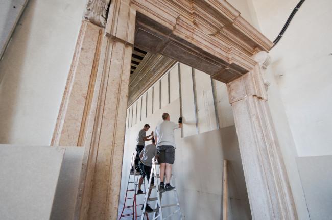 I lavori di restauro dello Spazio Dom Perignon a Ca' Pesaro