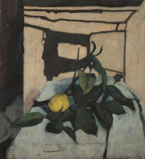 Felice Casorati, Natura morta con il limone, 1937, Museu de Arte Contemporãnea da Universidade de São Paulo, San Paolo, Brasile