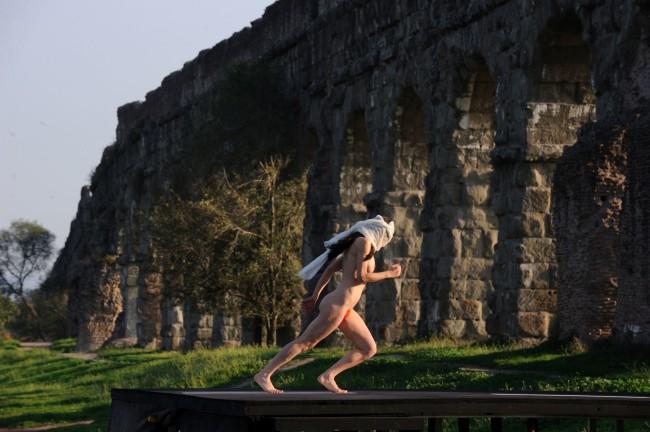 """Gianni Fiorito, Set del film """"La grande bellezza"""" di Paolo Sorrentino, nella foto Anita Kravos"""