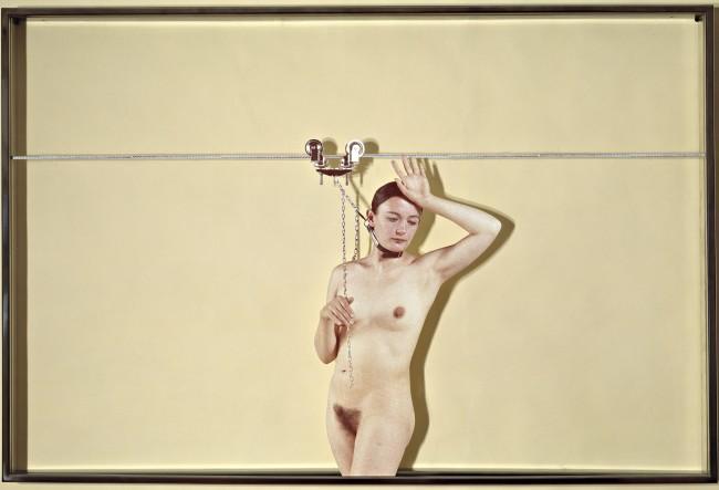 Vettor Pisani Lo scorrevole 1972 stampa fotografica, plexiglas, ferro / photo print, plexiglas, iron 80 x 120 x 6 cm Courtesy Collezione Maramotti