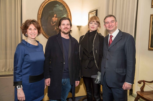 Tiziana Frescobaldi, Michael Sailstorfer e Jorinde Voigt e LudovicoPratesi. Foto: Markus Nass / www.markusnass.de