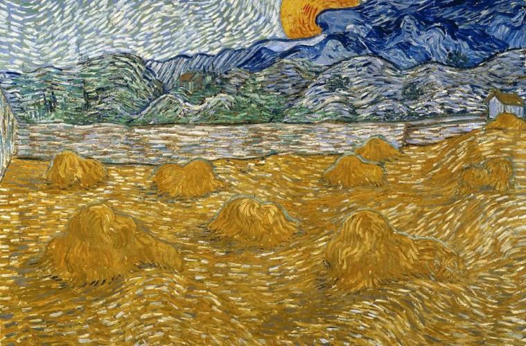Vincent van Gogh, Paesaggio con covoni e luna che sorge, 1889, olio su tela, 72x91.3 cm, Kröller-Müller Museum, Otterlo © Kröller-Müller Museum, Otterlo