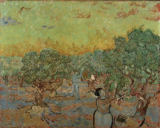 Vincent van Gogh, Uliveto con due raccoglitori di olive, 1889, olio su tela, 73.3x92.2, Kröller-Müller Museum, Otterlo © Kröller-Müller Museum, Otterlo