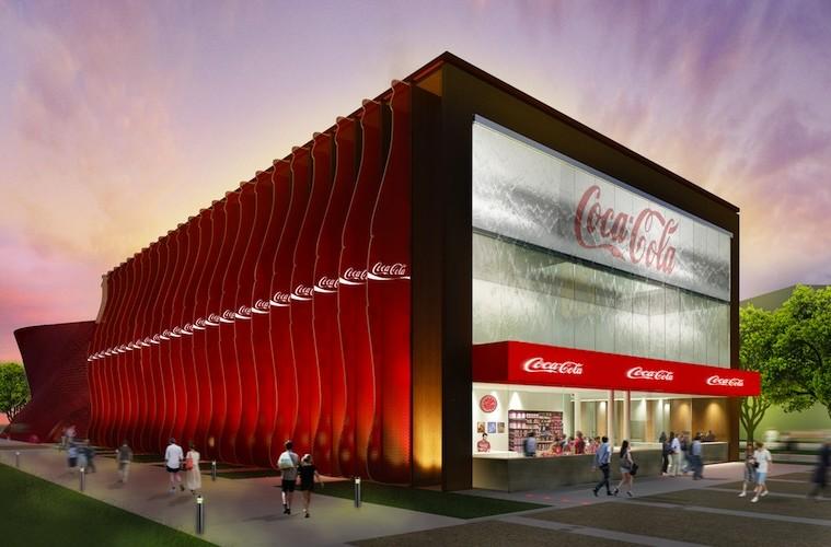 Padiglione Coca-Cola per Expo 2015 - facciata sud est