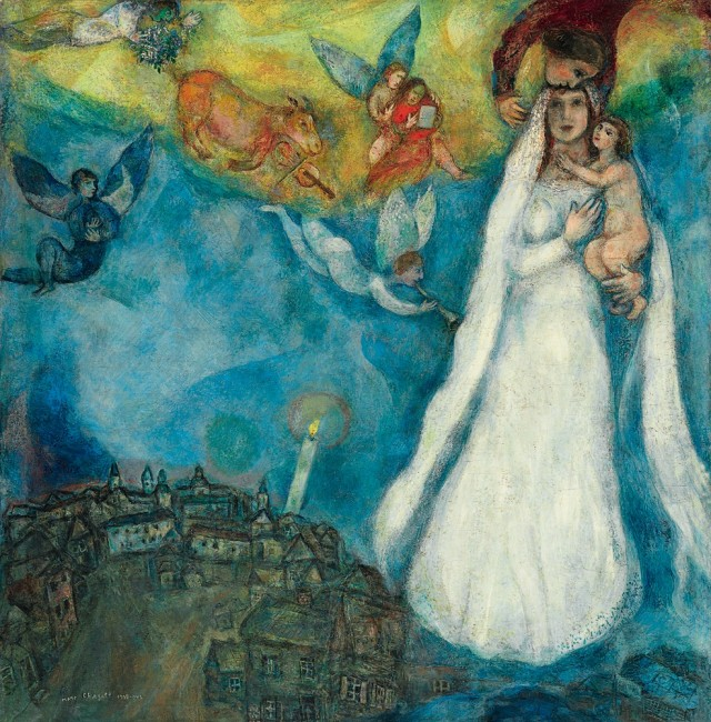 Marc Chagall, La Madonna del Villaggio, 1938‐42, olio su tela Madrid, Museo Thyssen‐Bornemisza © Chagall ®, by SIAE 2014