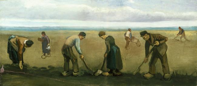 Vincent van Gogh, Contadini che seminano patate, 1884, olio su tela, 66.4x149.6 cm, Kröller-Müller Museum, Otterlo © Kröller-Müller Museum, Otterlo