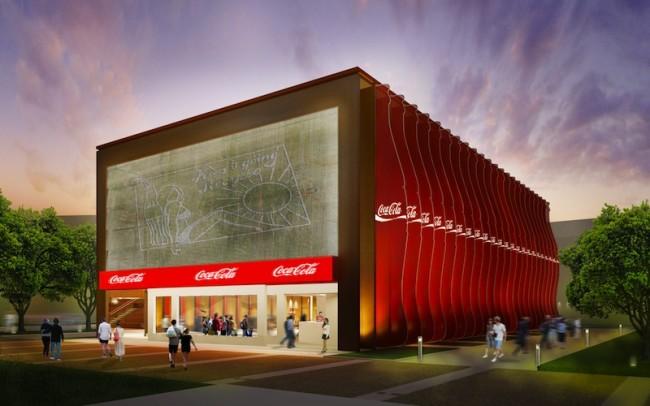 Padiglione Coca-Cola, facciata sud ovest