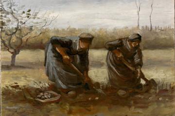 Vincent van Gogh, Contadine che raccolgono patate, 1885, olio su tela, 31.5x42.5 cm, Kröller-Müller Museum © Kröller-Müller Museum