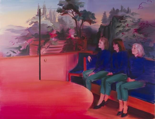 Caroline Walker, Closing Scene, 2014, oil on linen, 160x215 cm Courtesy ProjectB, Milano