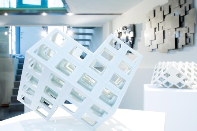 Esh Gallery, veduta della mostra Codici Spaziali, photocredit  D21
