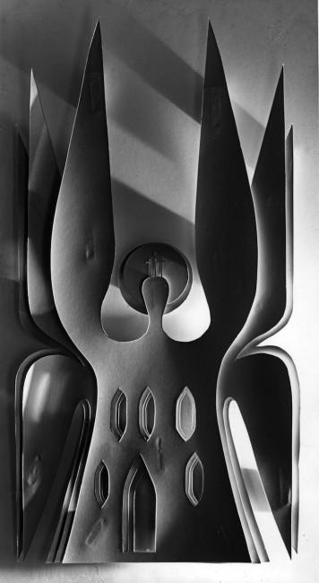 Gio Ponti, Cattedrale di Los Angeles, 1967 | Maquette della scultura @ Gio Ponti Archives