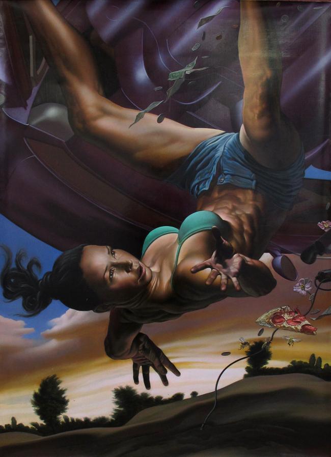 NICOLA VERLATO_CarCrash13_2012-2013, olio su tela, 90x120cm