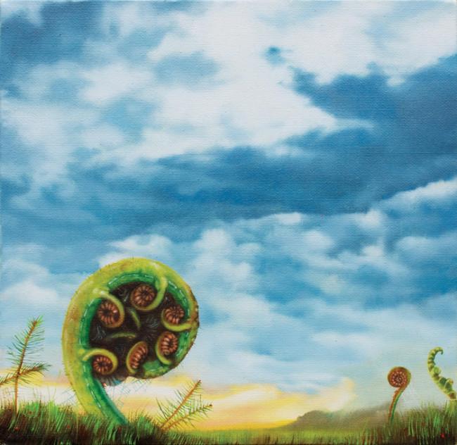 Carlo Alberto Rastelli, The Devil's ears, 2014, olio su tela, 20x20 cm