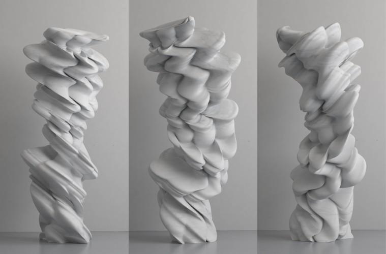 Tony Cragg, Paradosso, 2014, marmo, 300x122x140 cm