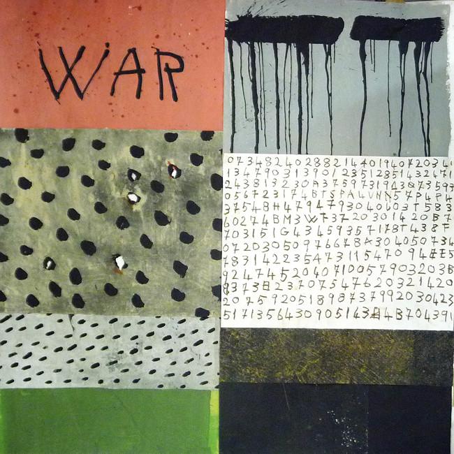 Vanni Spazzoli, Inner patterns, 2014, tecnica mista su carta intelata, cm 200x200