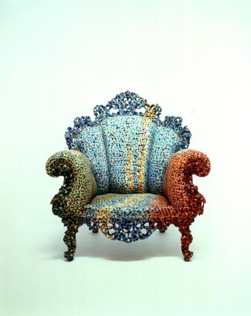 Alessandro Mendini, Poltrona di Proust, 1978, poltrona dipinta a mano, 100x100x100 cm, Collezione privata