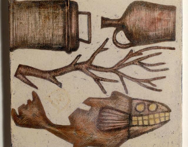 Mirco De Nicolò, Sketch 11, ceramica 20x20 cm