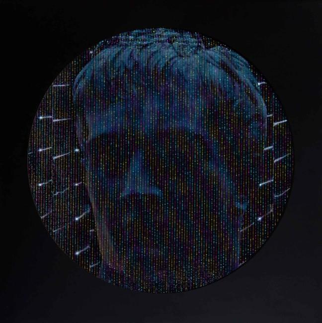 Marco Cassarà, 2014, tecnica mista e collage su copertina per lp, 31x31 cm