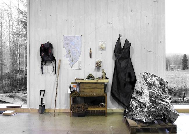 Daniele Girardi, North_Way, Documentazione site-specific Out/In door, Finnskogen forest _ Norway 2014, courtesy dell'artista