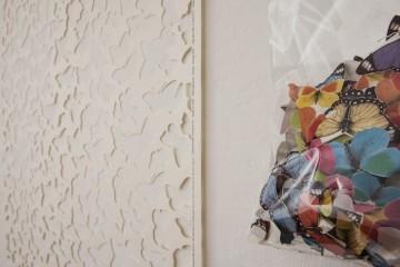 Gianluca Quaglia, You, (dettaglio) 2014 carta incisa, busta di plastica, scatola di legno intaglio 100x70 cm + busta 30x20 cm