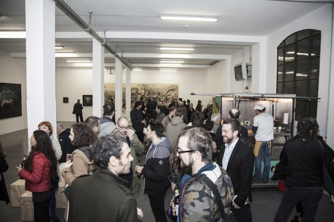 Opening JUXTAPOZ ITALIANO Four Artists who Defy Convention, Galleria Giovanni Bonelli, Milano