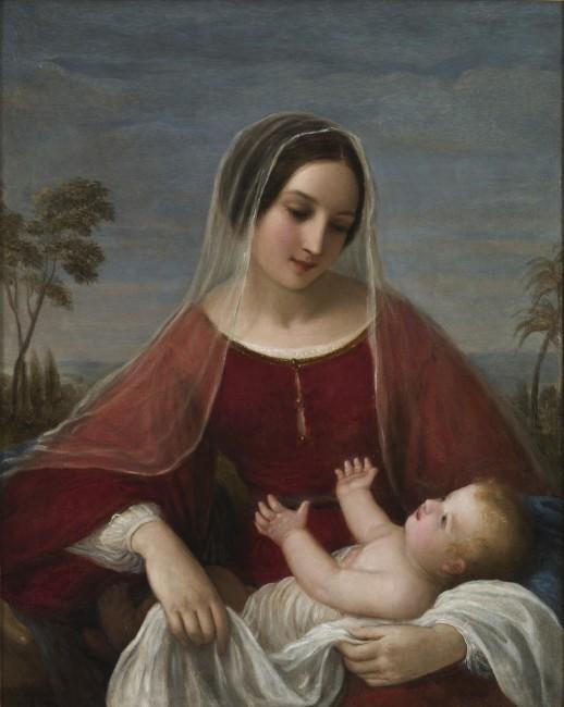 Natale Schiavoni, Madonna con bambino, 1842, olio su tela, 68x84 cm, deposito Pedrotti-Regazzola, Mart, Rovereto