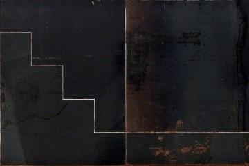 Nicola Carrino, P.2, 1975-1989, ferro verniciato trasparente a fuoco, 37.5x120 cm