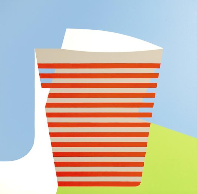 Ester Grossi, Scalea, 2014, acrilico su tela, cm 80x80