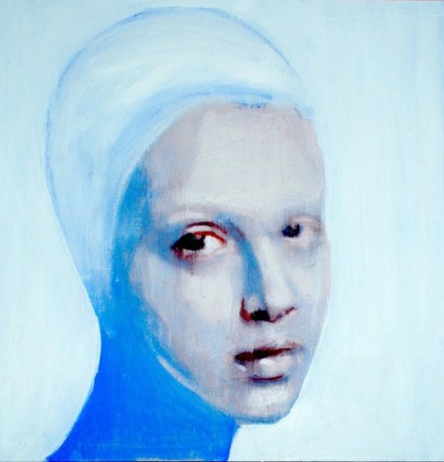 Sergio Fiorentino Ritratto 2014 olio ed acrilico su tela 60x60 cm