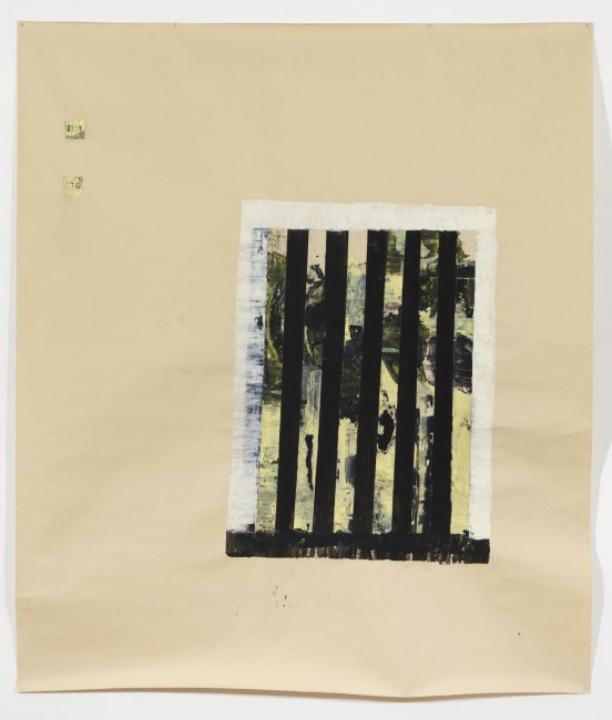 Simona Caramelli, I 2, 2014, serie acrilico e collage su carta, 175x150 cm