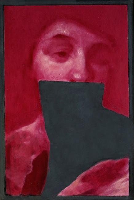 Simone Geraci Der Traum 2014 olio su ardesia 30x20 cm