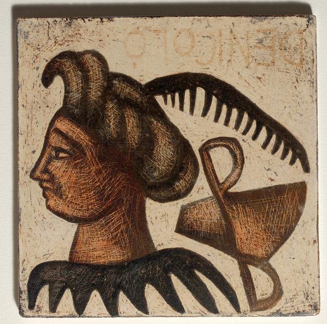 Mirco De Nicolò, Sketch 1, ceramica 20x20 cm