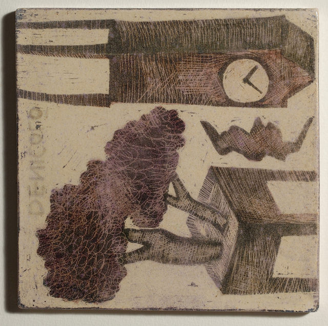 Mirco De Nicolò, Sketch 3, ceramica 20x20 cm
