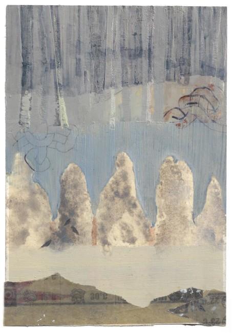 Elisa Bertaglia, Bluebird #2, 24x16,5 cm, olio, carboncino e grafite su carta, 2014 Courtesy Banca SISTEMA ARTE, Milano