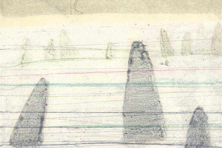 Elisa Bertaglia, Bluebird #2, 29,5x20,5 cm, olio, carboncino e grafite su carta, 2014 Courtesy Banca SISTEMA ARTE, Milano