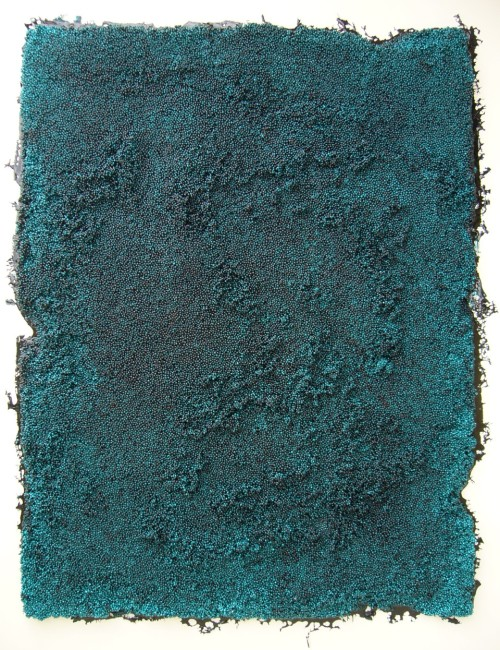 STEFANO RONCI  Untitled, 2014, resin, pigments and polystyrene with frame, 154x120x10 cm