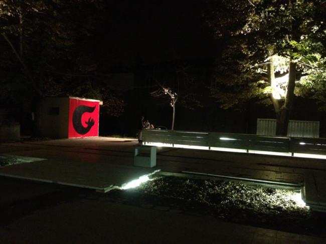 Veduta notturna di Spazio Grisù, Ferrara