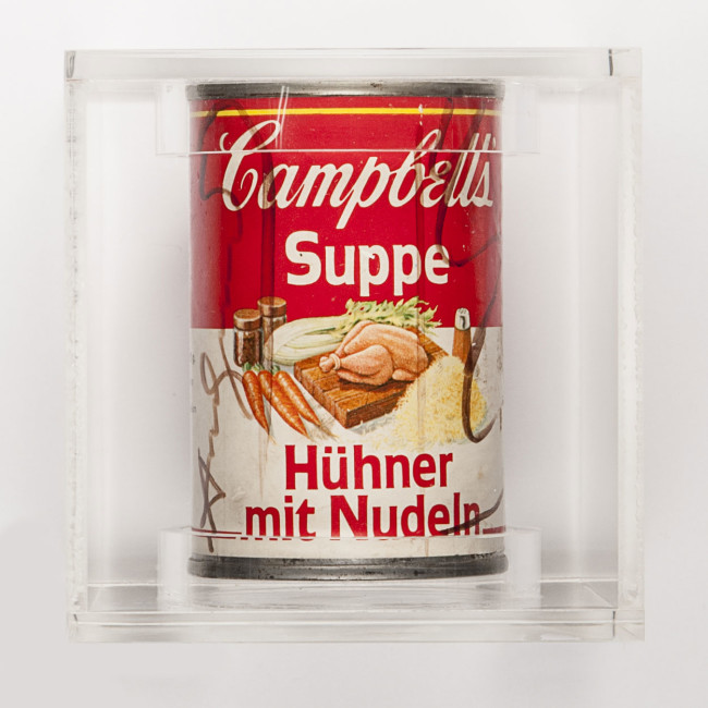 Andy Warhol, Campbell's Soup, 1970, 10x6.5x6.5 cm