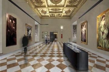 Rendering dell'allestimento di Giovanni Boldini al Castello Estense, Ferrara
