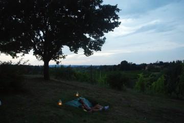 Chiara Mu, infinity watching (osservatorio per l'infinito), installazione site specific, Novella Guerra, 2014