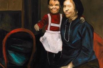 Federico Zanzi, Morte della vergine, olio su tela, 120x120 cm